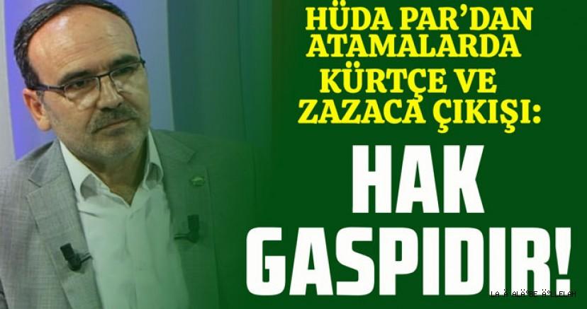 HÜDA PAR: Kürtçe ve Zazaca öğretmeninin atanmaması hak gaspıdır!