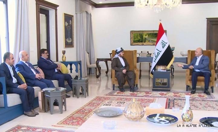 Irak Cumhurbaşkanı Salih, Prof.Dr.Ali el-Karadaği ile görüştü